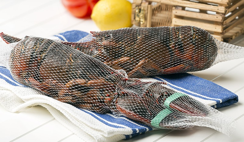 Whole Blanched Netted Lobsters, Frozen